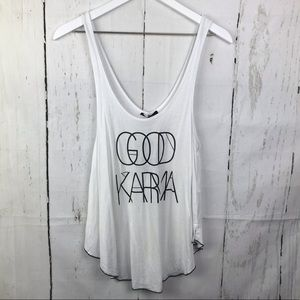 Good Karma The Classic Graphic Tank Top NWT